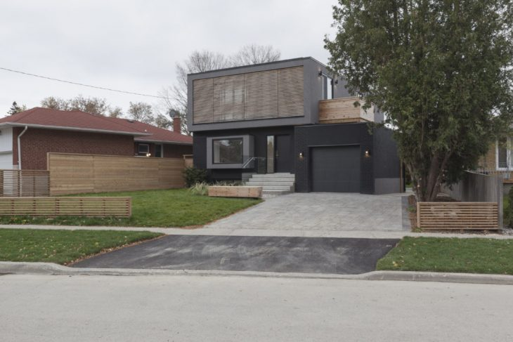 Atelier RZLBD   designed this inspiring two-story house located in Eglinton East be