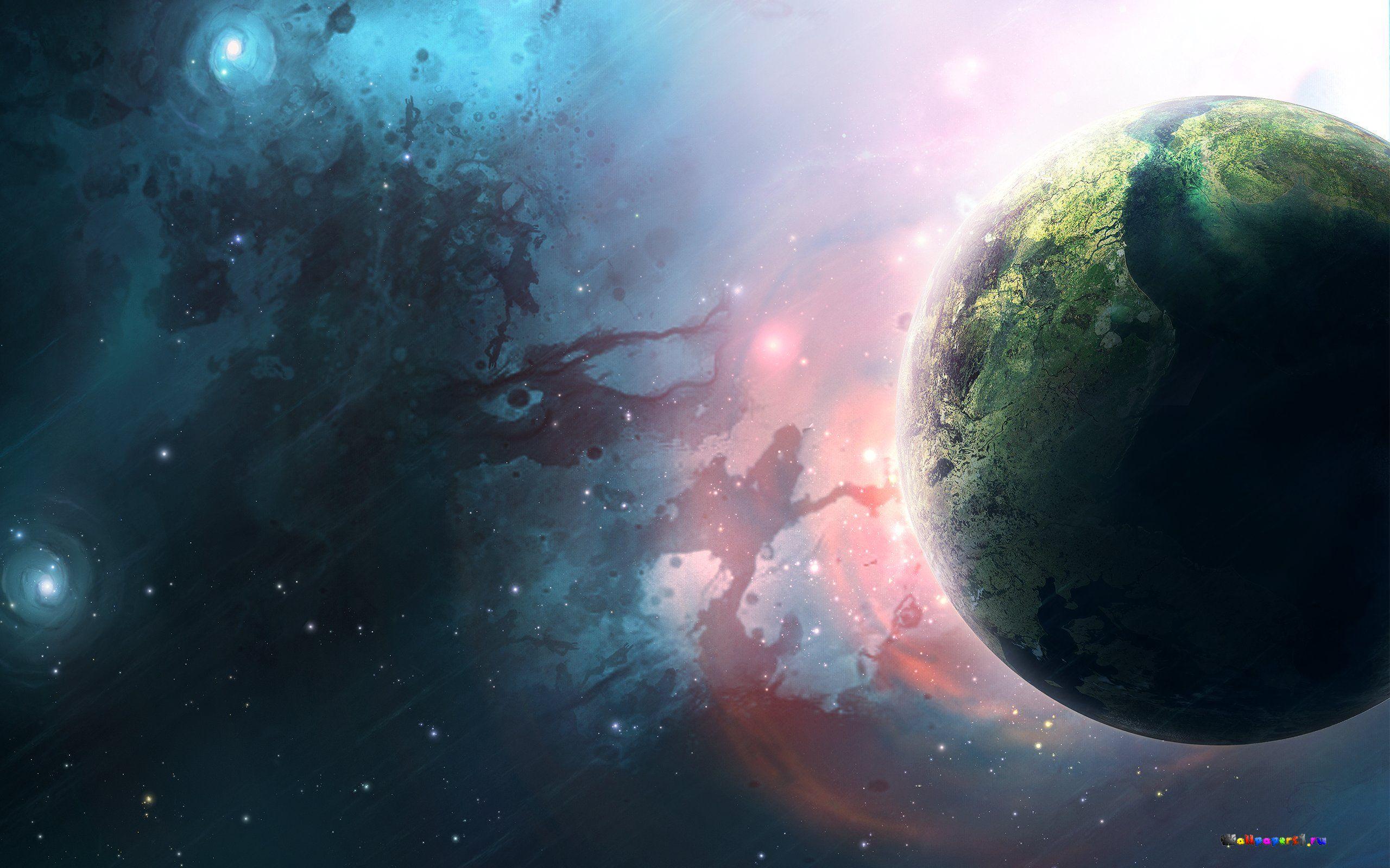 Обои планета туманность картинки на рабочий стол на тему Космос - скачать загрузить