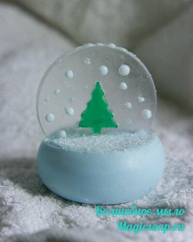 «Снежная ёлка» — зимнее мыло из мыльной основы (мастер-класс)