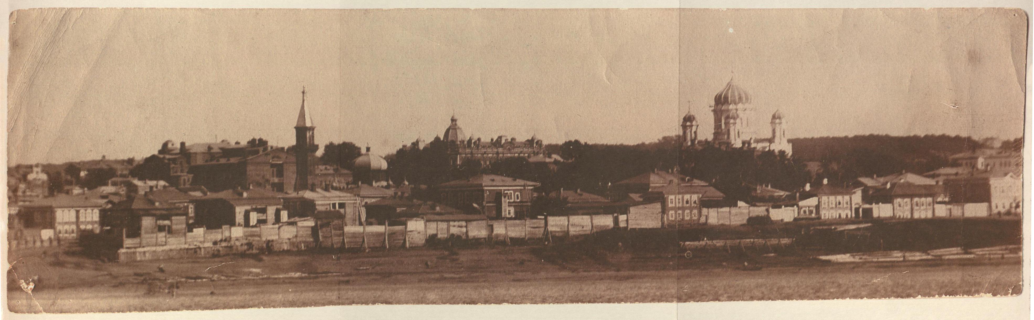Общий вид г. Томска с левого берега р. Томи