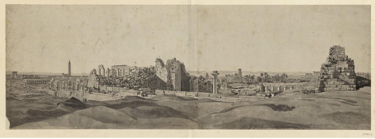 Карнак. Общий вид руин дворца  с северо-запада