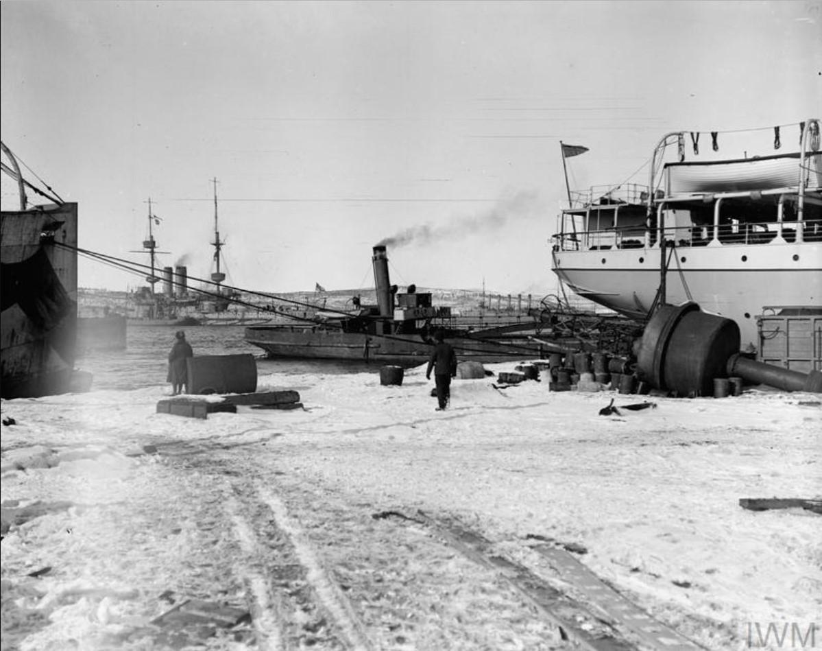 1919. HMS Glory возле Мурманской набережной