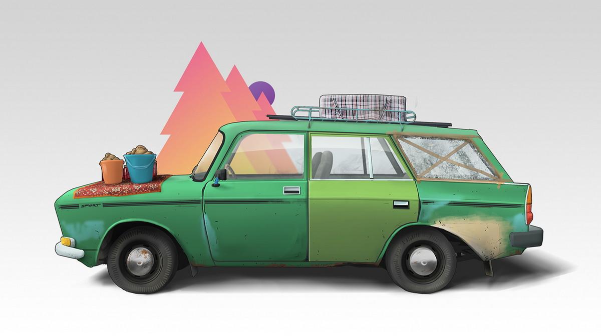 Советский автопром на иллюстрациях