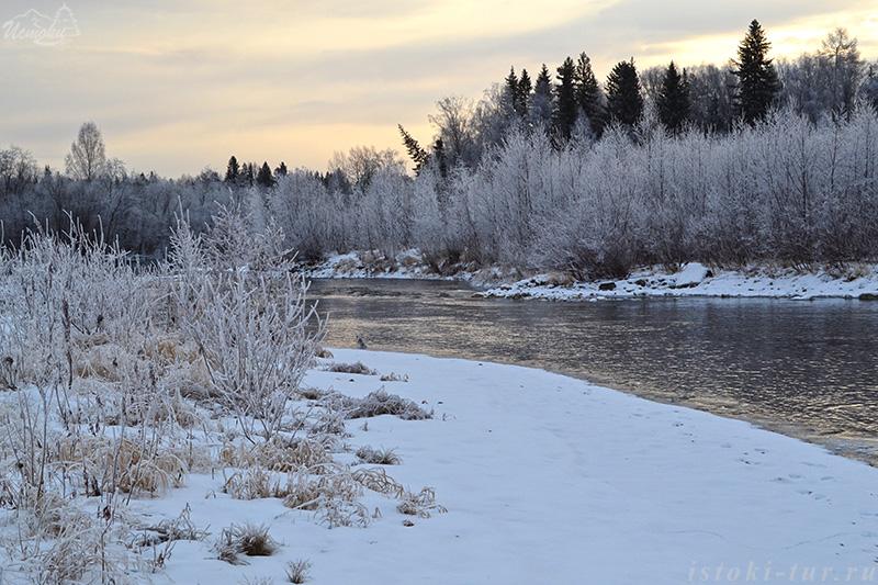 Морозным утром у реки