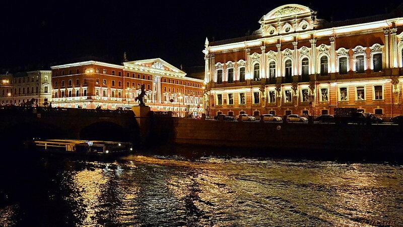 Осенний вечер в Санкт-Петербурге.