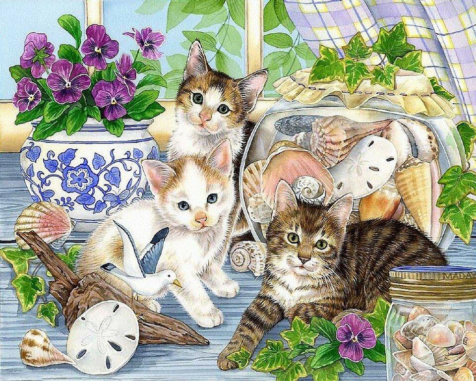 Открытки с котятами и кошками
