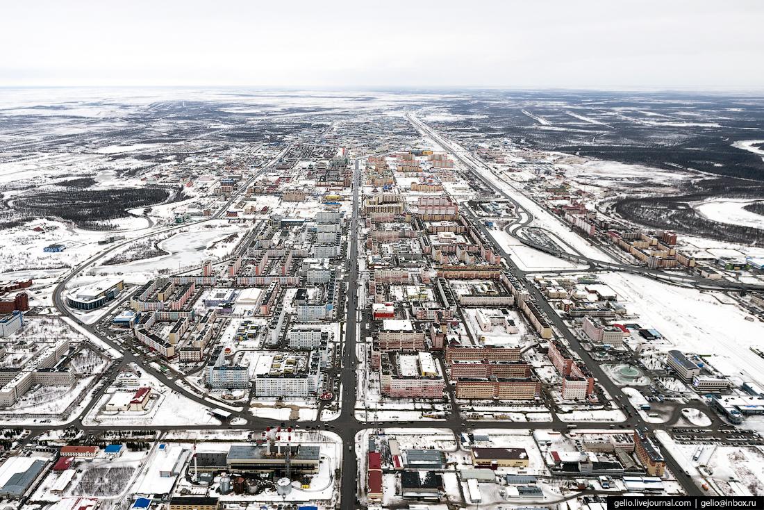 Новый Уренгой с высоты: газовая столица России
