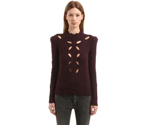 ISABEL MARANT  CUTOUTS ALPACA BLEND KNIT SWEATER