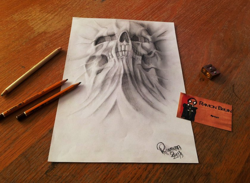 Superb 3D Traditional Artwork on Paper by Ramon Bruin