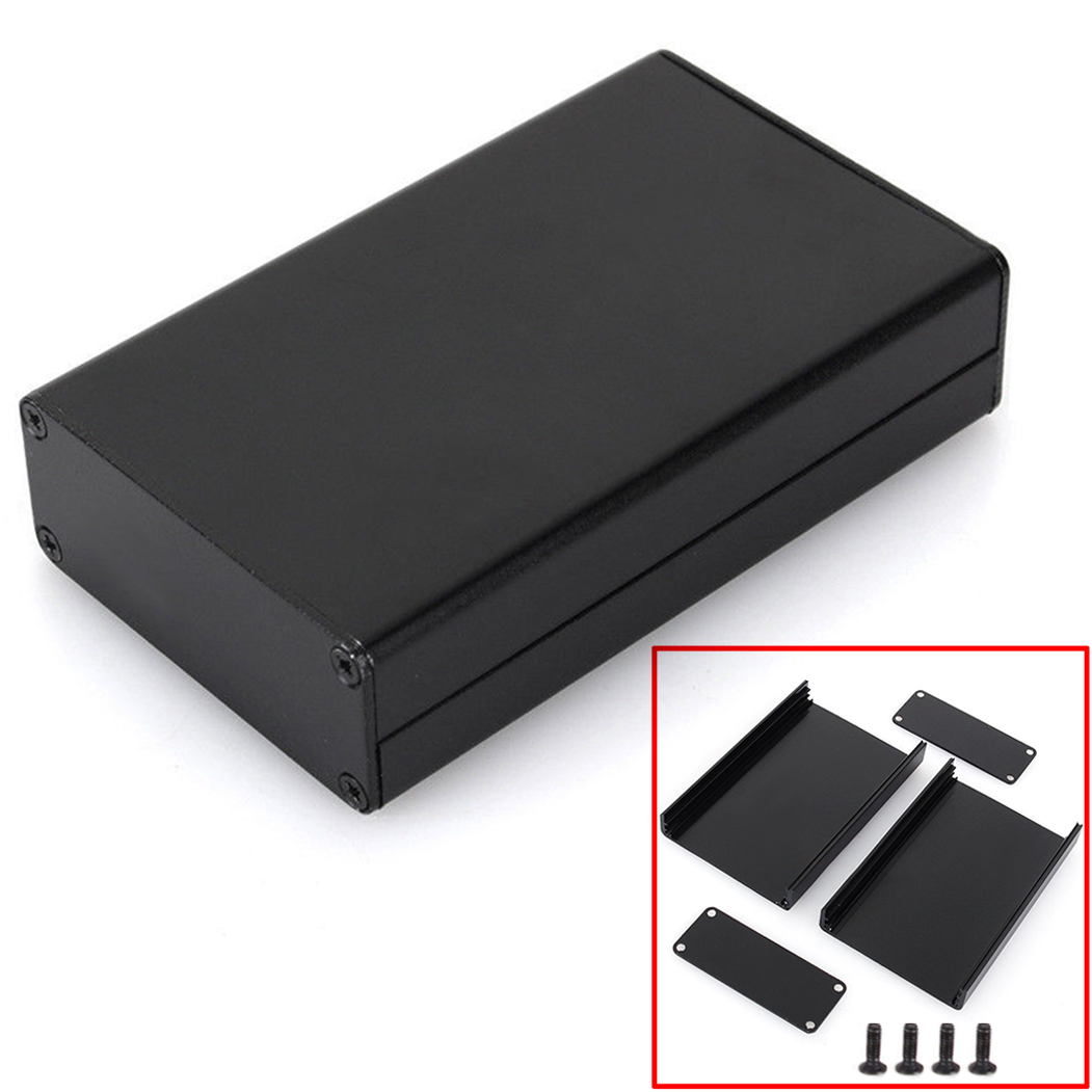 Black Extruded Aluminum Enclosure Box PCB Instrument Box DIY ...