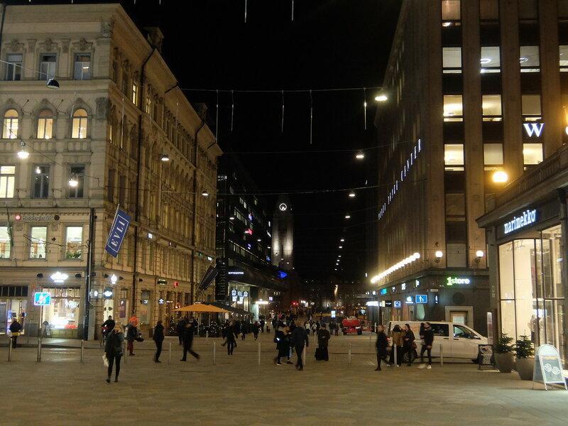 Хельсинки - Вечером в центре города