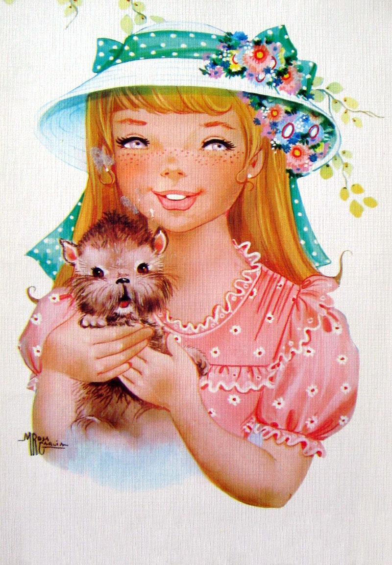 Зарубежные открытки с детьми, прикольный рисунок