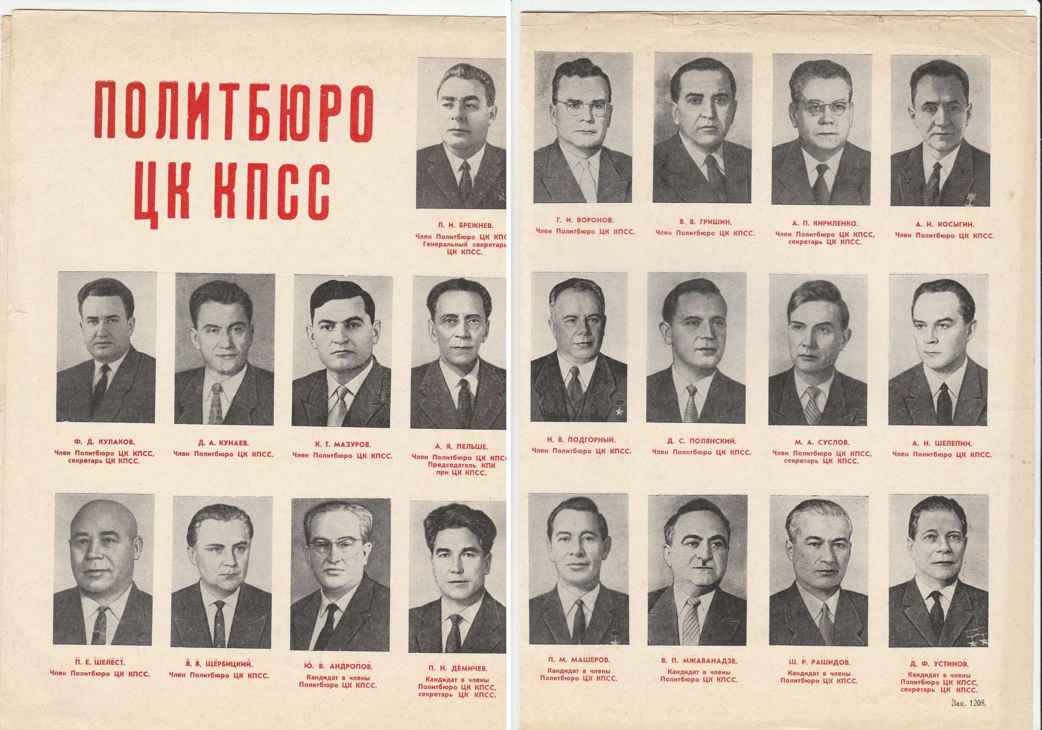 1971. Политбюро ЦК КПСС