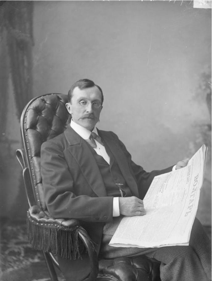 Портрет редактора газеты «Волгарь» Жукова