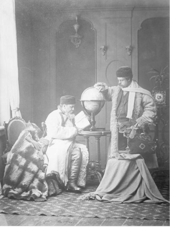 Путешественники на Северный полюс. Портрет Павла Яковлевича Пясецкого и неизвестного мужчины
