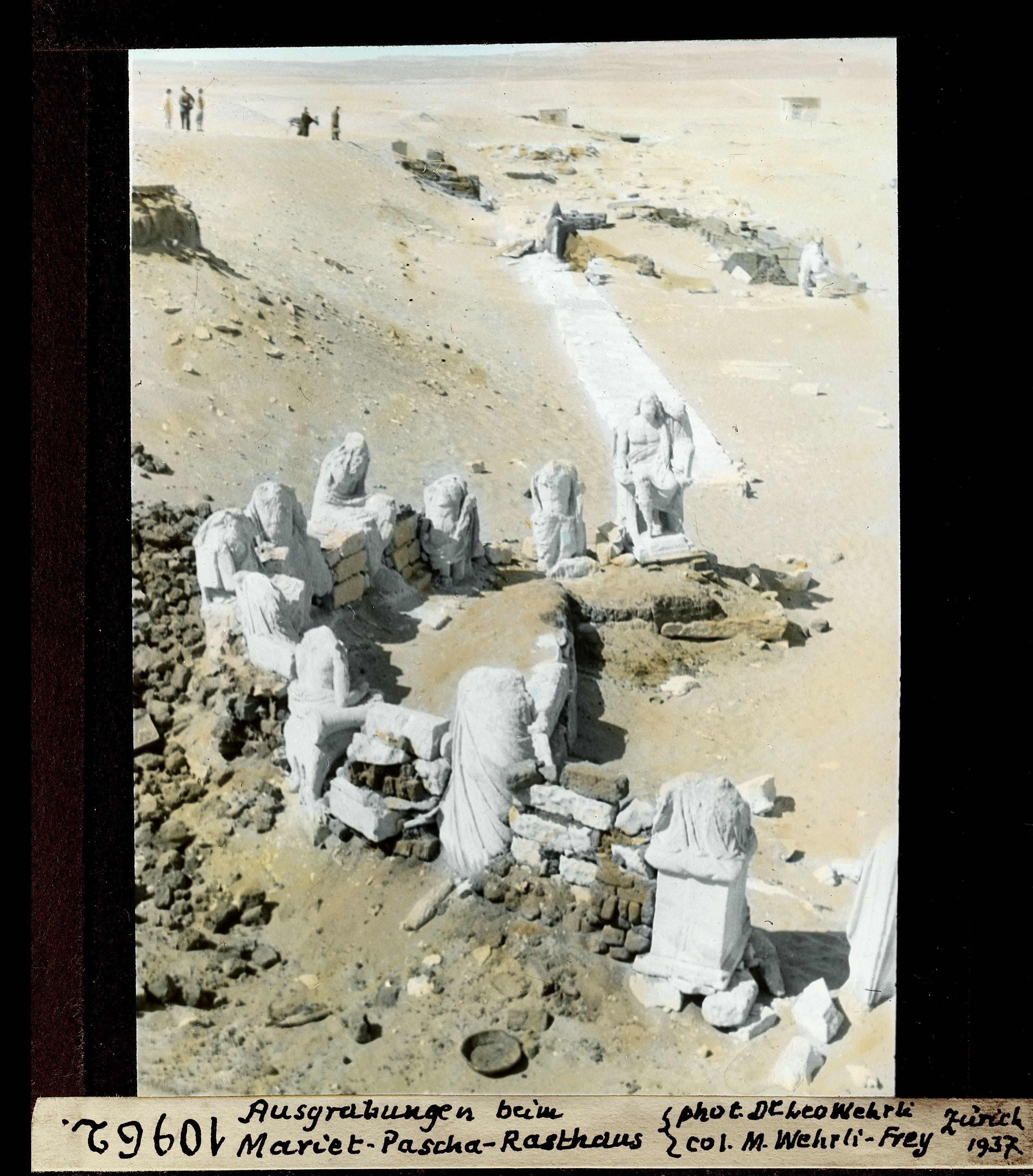 Раскопки на дороге в отель Мариет-паша