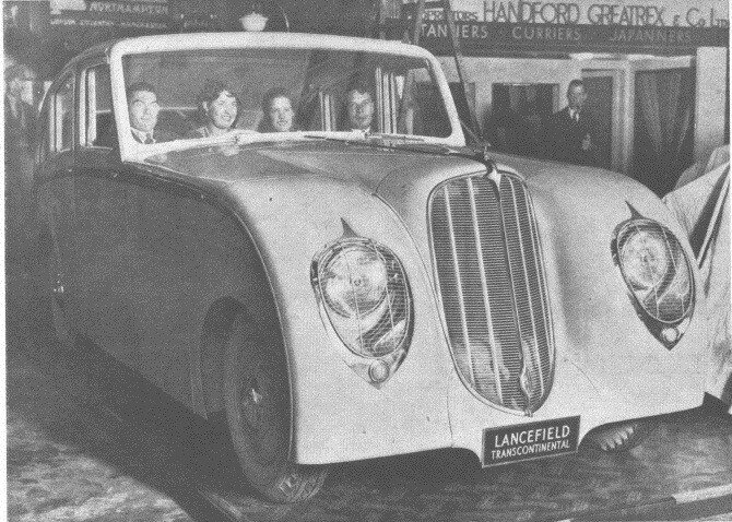 Lancefield Transcontinental on Hudson base, shown at the Olympia Motor Show in 1935.jpg