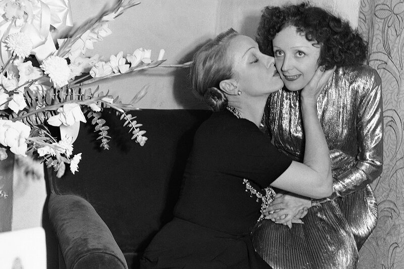 Piaf And Dietrich 1947