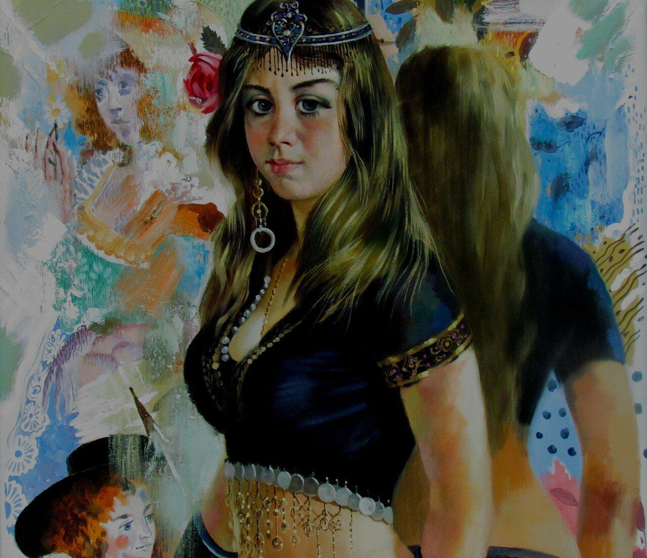 владимир акимов.танцовщица восточных танцев мария перед зеркалом.фрагмент.jpg