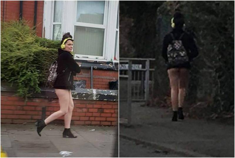 Полуголая женщина привлекла внимание британской полиции