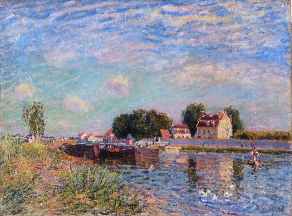 Сислей, Альфред (1839 Париж - 1899 Море-сюр-Луан) -- Канал в Сен-Маммес