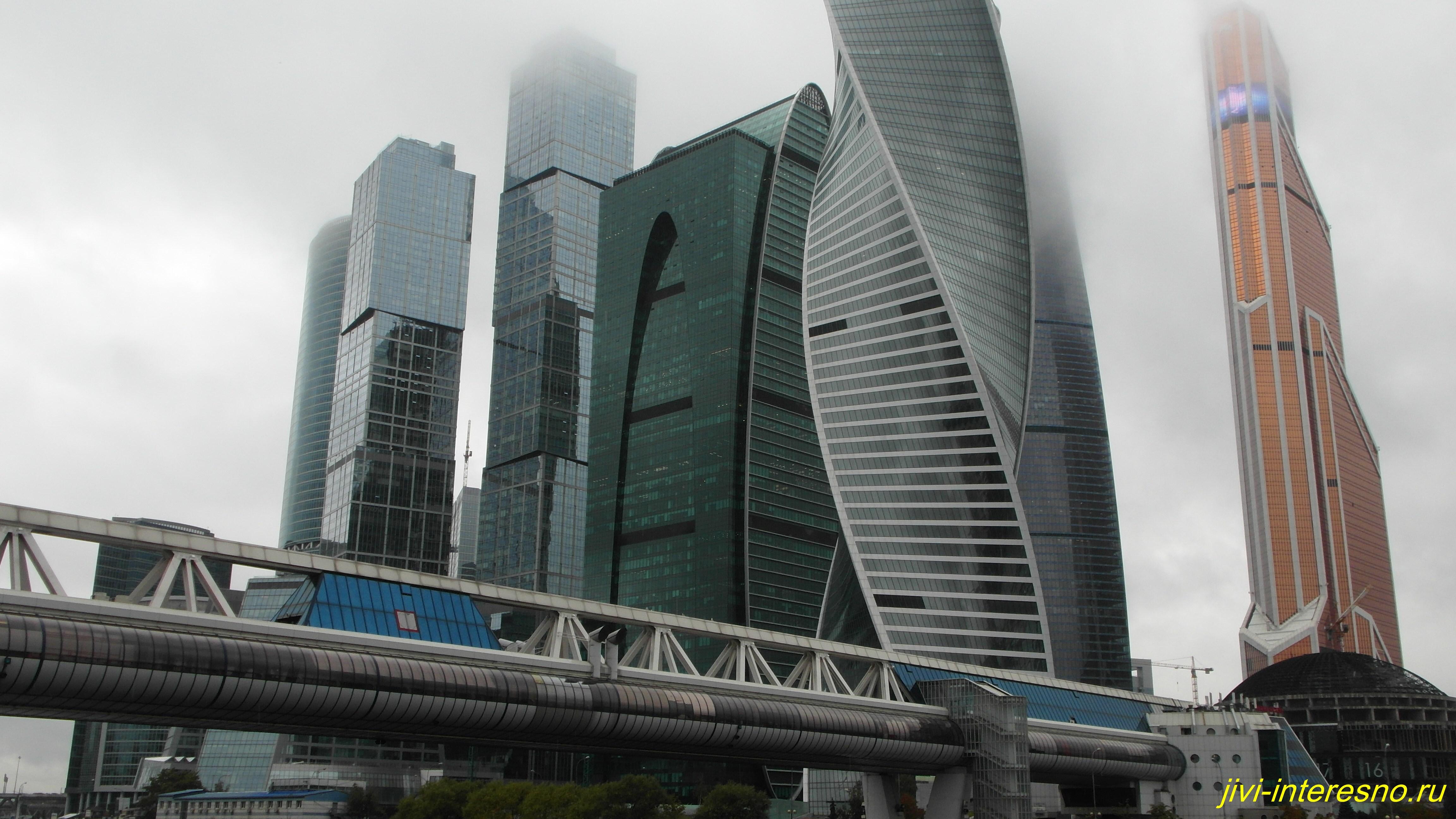 Осенняя Москва, Мост Багратион, Москва-Сити