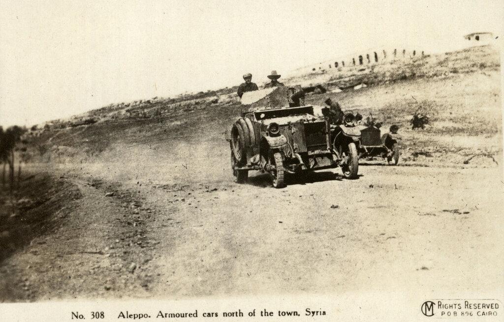 A Damliar Rolls Royce armoured car driving through Syria (official photo).