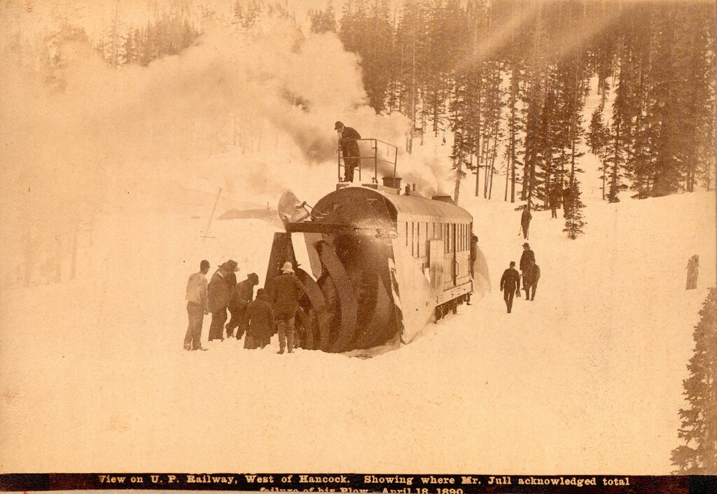 U.P. [sic] Railway west of Hancock showing where Mr. Jull acknowledged total failure of his plow. 1890 April 18.