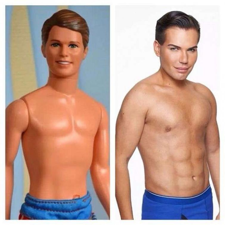 Этот человек настоящий Кен: 58 операций - а для чего?