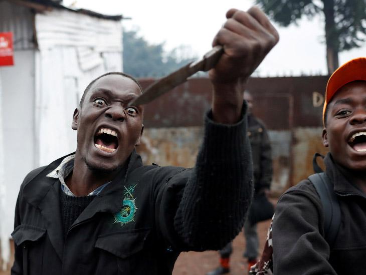 Борьба за власть по-кенийски (20 фото)