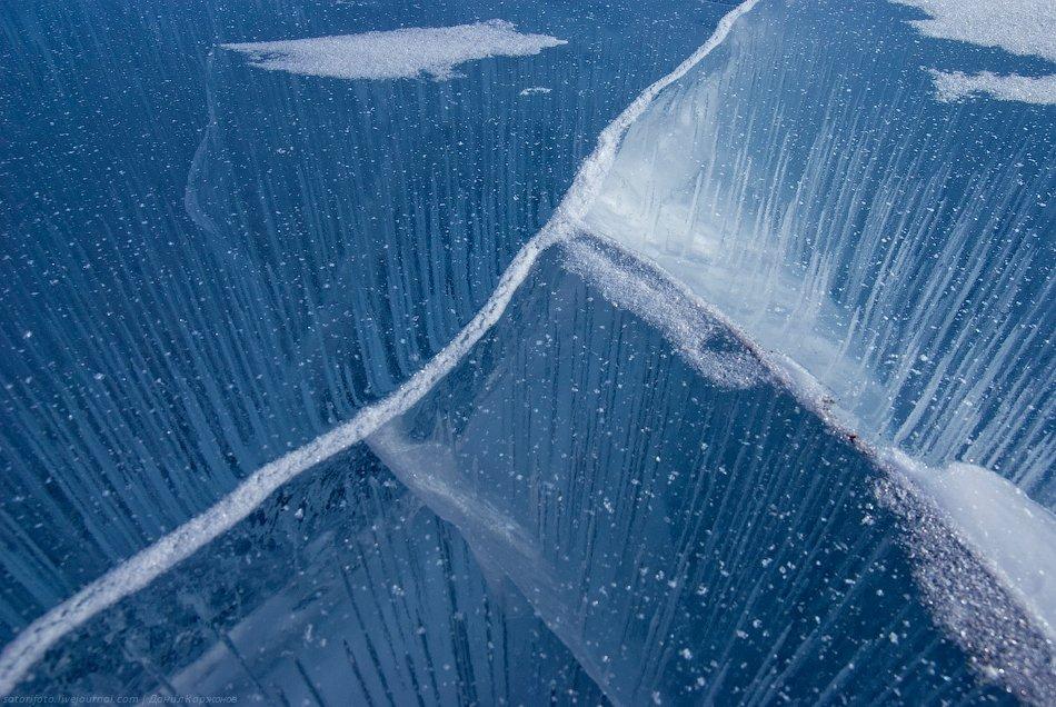 Байкал покрывается льдом полностью , кроме участка в 20-25 км в истоке Ангары. В сре