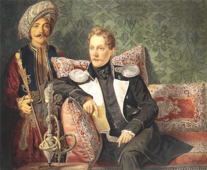 В первой половине XIX века курение трубки считалось привилегией высшего сословия. «Что за дворянин,