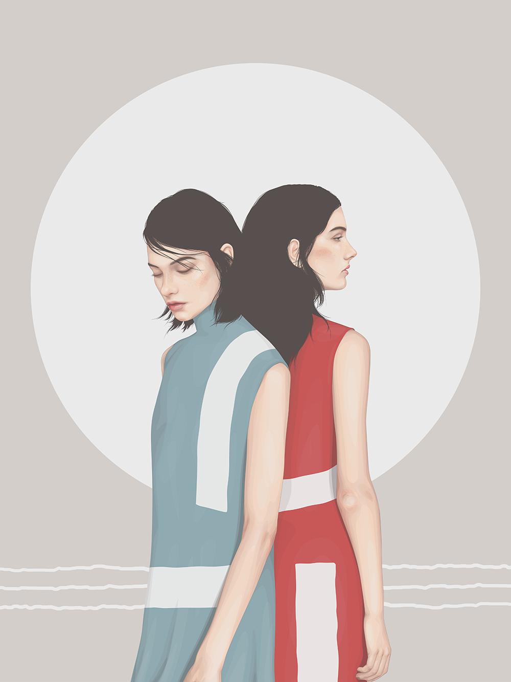 Fashion Illustrations by Yuschav Arly