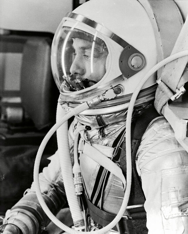 Alan Shepard in Space Suit before Mercury Launch