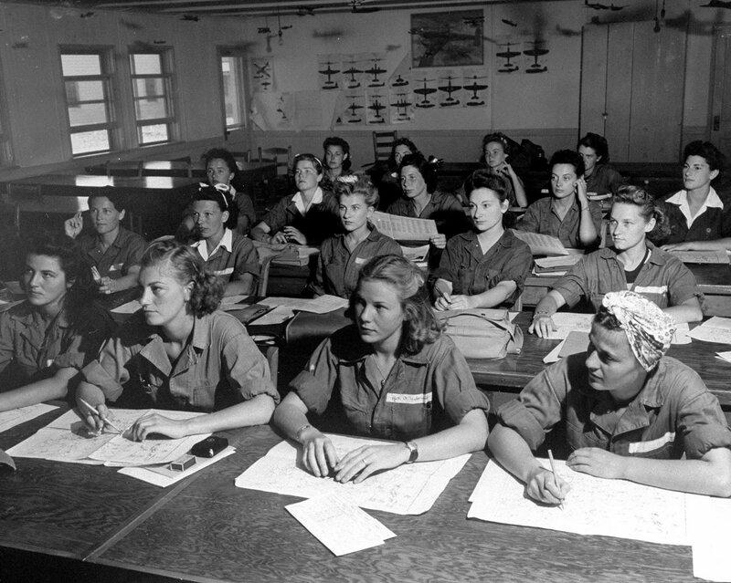 Обучение женщин - пилотов,Sweetwater, Texas.