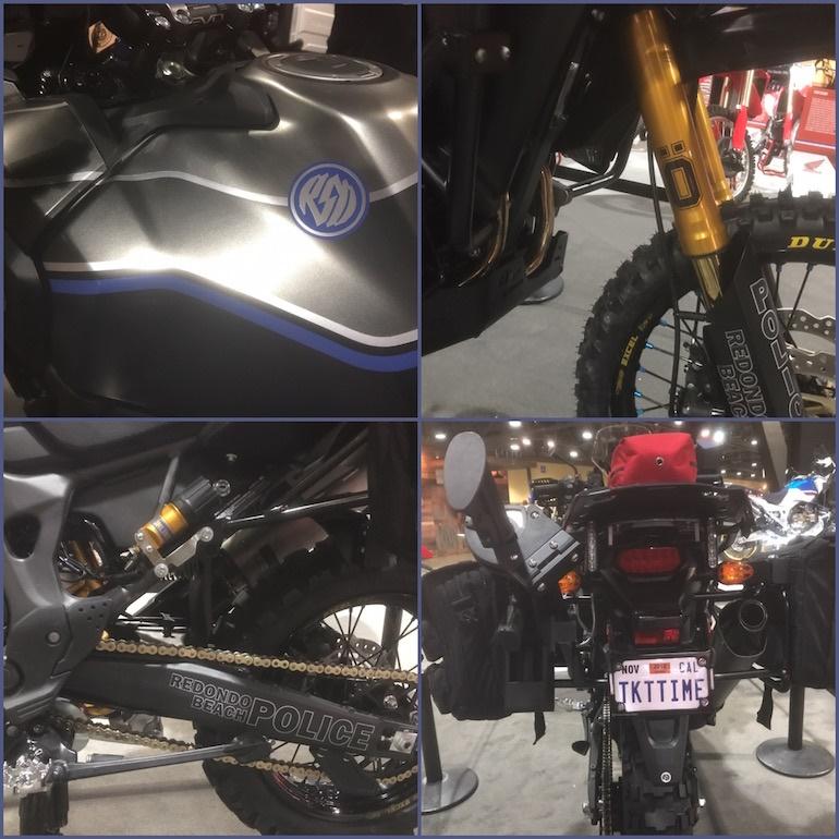 Роланд Сэндс модифицировал мотоциклы Honda Africa Twin  для полиции
