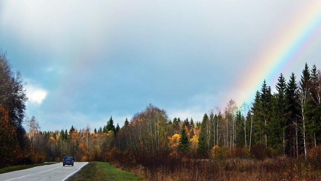 Двойная радуга конца октября