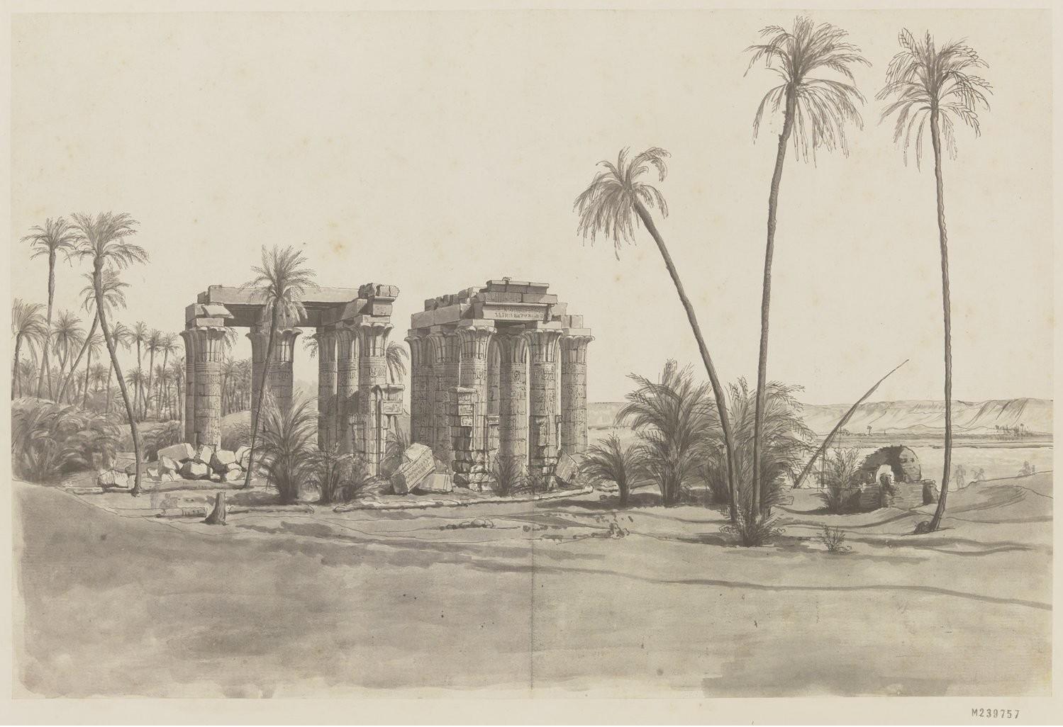 Антаополис. Вид на храм с западной стороны