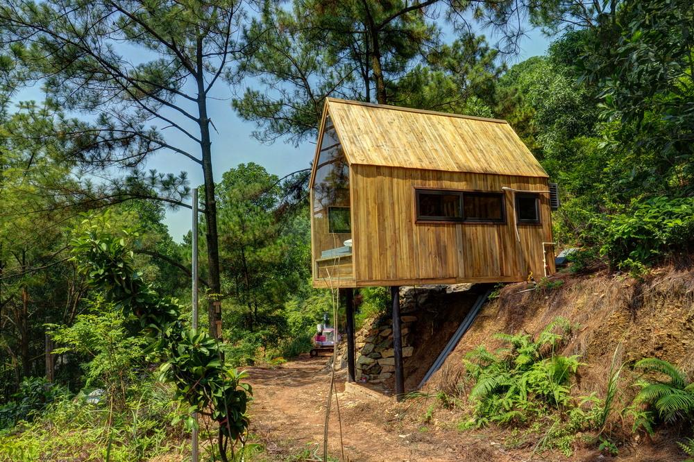 Домик для отдыха во вьетнамском лесу