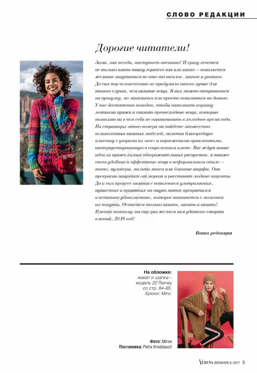 Журнал VERENA 6 - 2017. Вязание спицами от Burda (3)