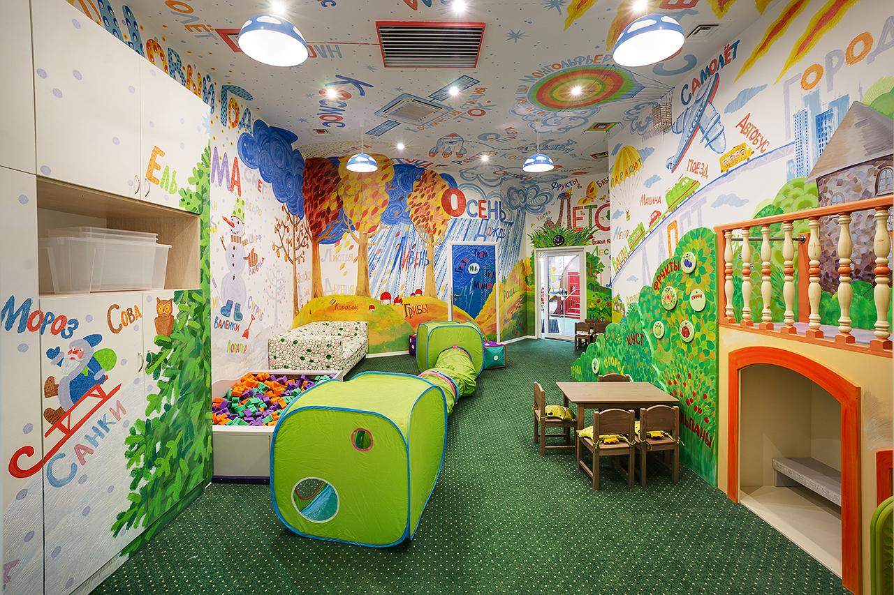 интерьерная фотосъемка площадок для развивающих игр детей