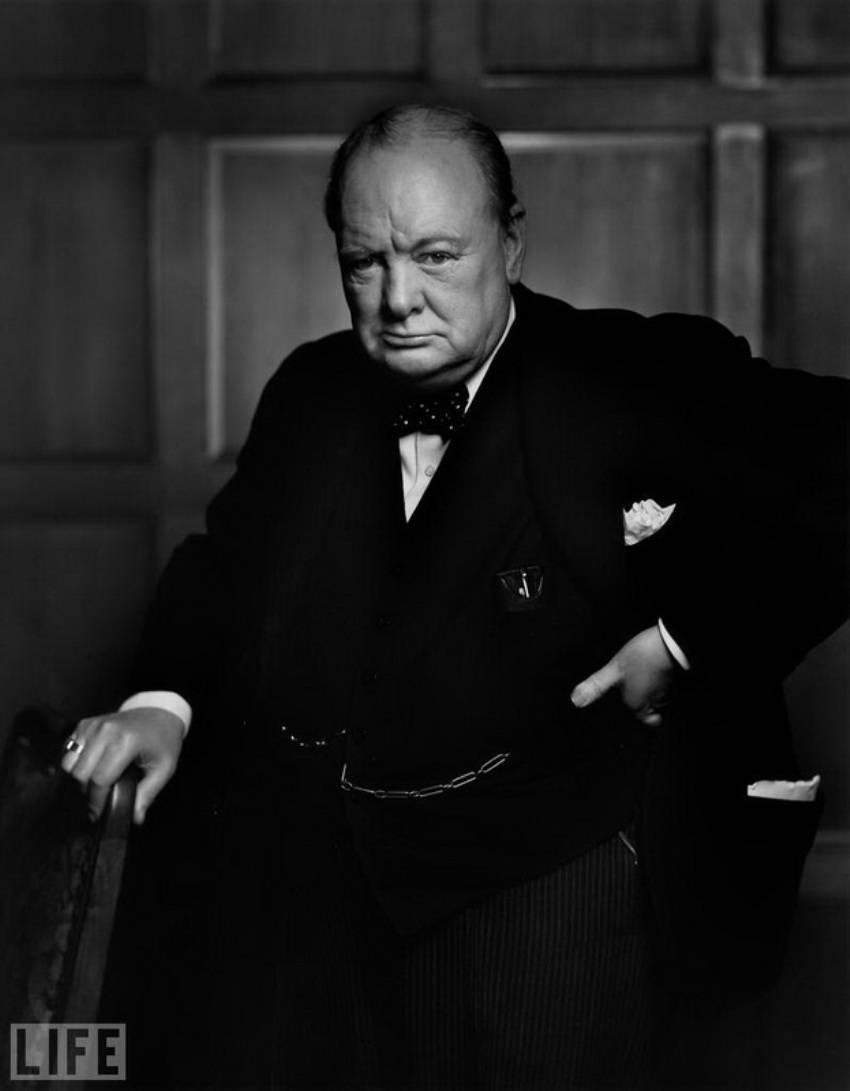 Автор фото: Юсуф Карш (Yousuf Karsh), 1941. Премьер-министр Великобритании в 1940—1945 и 1951—1955 г