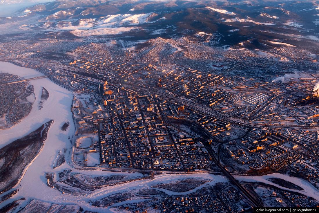 Улан-Удэ. Бурятия. Фотографии из окна самолета