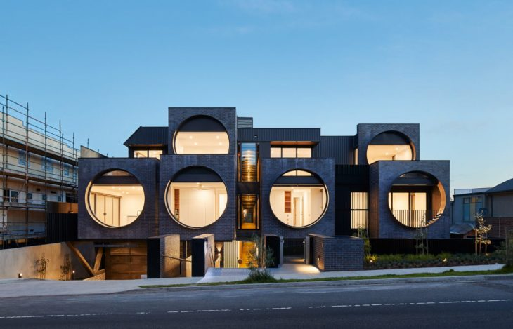 BKK Architects  designed this stunning contemporary apartment building, located in M