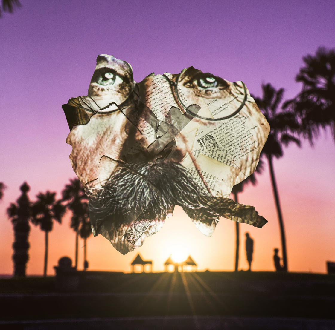 This artist projects the people of Los Angeles on the waste from the city