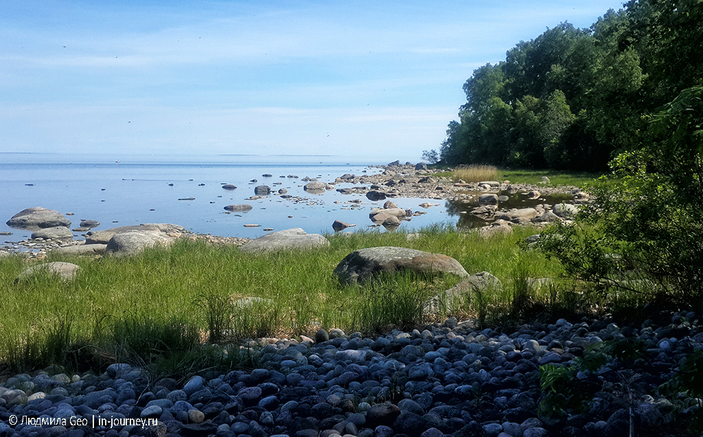 Пейзаж с камнями на Ладожских шхерах