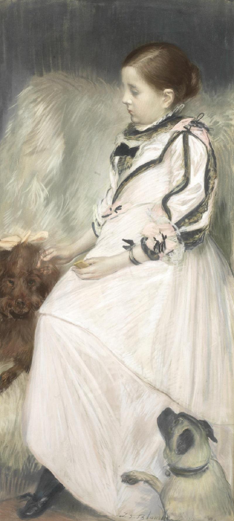 La Petite Fille aux Chiens , 1892.