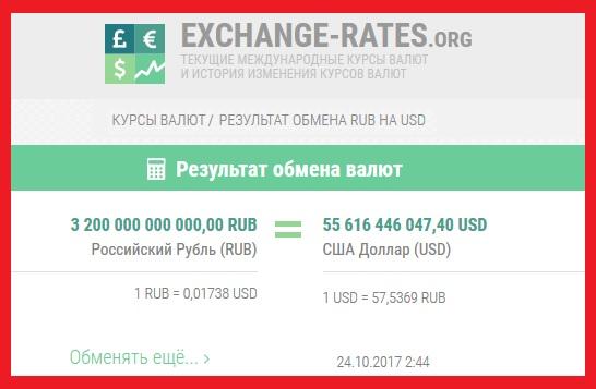 Обмен __ 3,2 триллиона рублей из закрытых статей бюджета. результат__ 54 миллиарда доларов (Жуковский на YouTube)