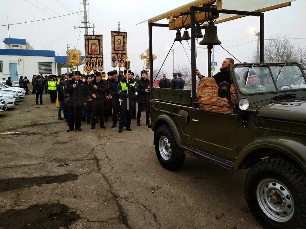 Крестный ход ГИБДД в Краснодаре, на опасном участке движения, 18 ноября, 2017-го г.(4-1024)