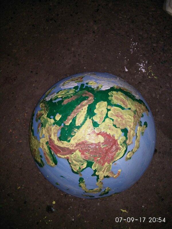 Парковочная полусфера - Земной шар.jpg